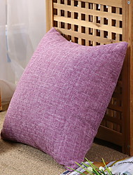 cheap -1 pcs Cotton / Linen Pillow Cover, Solid Colored Modern / Contemporary