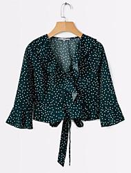 cheap -women's work shirt - polka dot strapless