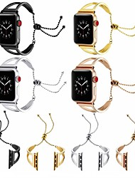 abordables -Bracelet de Montre  pour Apple Watch Series 4/3/2/1 Apple Boucle Moderne Métallique / Acier Inoxydable Sangle de Poignet