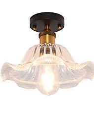 Недорогие -северная Европа современный стеклянный потолок винтаж творческий лотос лист форма стекло гостиная столовая прихожая потолочный светильник