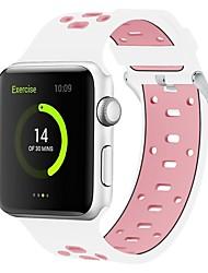 Недорогие -силикагель Ремешок для часов Ремень для Apple Watch Series 4/3/2/1 Черный / Белый / Синий 23см / 9 дюйма 2.1cm / 0.83 дюймы