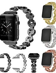 economico -Cinturino per orologio  per Apple Watch Series 4/3/2/1 Apple Cinturino sportivo / Stile dei gioielli Acciaio inossidabile / Ceramica Custodia con cinturino a strappo