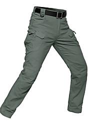 baratos -Homens Calças de Trilha Ao ar livre Á Prova-de-Chuva, Respirabilidade, Vestível Calças Equitação / Alpinismo / Exercicio Exterior