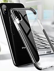 Недорогие -Кейс для Назначение Apple iPhone X / iPhone 8 Plus Защита от удара / Прозрачный Кейс на заднюю панель Однотонный Мягкий ТПУ для iPhone XS / iPhone XR / iPhone X