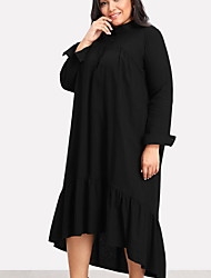 Недорогие -Жен. На выход / Пляж Классический Свободный силуэт Прямое Платье - Однотонный Макси