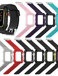 economico -Cinturino per orologio  per Apple Watch Series 4/3/2/1 Apple Cinturino sportivo Ceramica / Silicone Custodia con cinturino a strappo