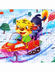 Недорогие -Деревянные пазлы Кошка Для школы / Ручная работа / Декомпрессионные игрушки деревянный 1 pcs Дети / Для подростков Подарок