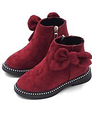 Недорогие -Девочки Обувь Полиуретан Наступила зима Ботильоны Ботинки для Дети Черный / Красный / Винный