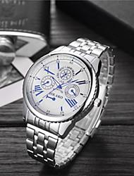 baratos -Homens Mulheres senhoras Relógio Esportivo Relógio de Pulso Quartzo 30 m Impermeável Relógio Casual Mostrador Grande Aço Inoxidável Banda Analógico Luxo Fashion Prata - Branco Azul