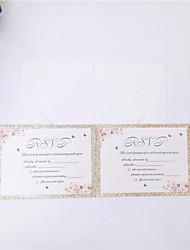 ราคาถูก -Flat Card เชิญแต่งงาน 50 / 50pcs - การ์ดส่งบัตรเชิญ / บัตรการตอบสนอง Artistic Style กระดาษนูน แสงระยิบระยับ