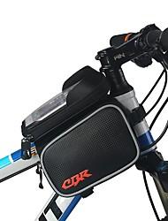 baratos -Bolsa para Quadro de Bicicleta 6 polegada Ciclismo para iPhone 8 Plus / 7 Plus / 6S Plus / 6 Plus Preto