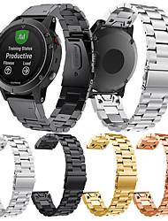 Недорогие -Ремешок для часов для Fenix 5 Garmin Классическая застежка Нержавеющая сталь Повязка на запястье