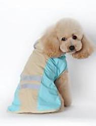 Недорогие -Собаки / Коты Дождевик Одежда для собак Однотонный Синий / Розовый Кожа PU Костюм Для домашних животных Универсальные Водонепроницаемый / Защита от ветра