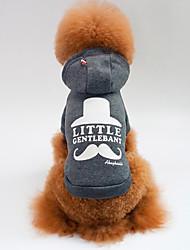 billiga -Hund / Katt Tröja Hundkläder Slogan Grå / Röd Cotton Kostym För husdjur Unisex Sport och utomhus / Ledigt / vardag