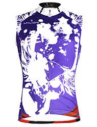 Недорогие -ILPALADINO Муж. Без рукавов Велокофты - Фиолетовый Радужный Мода Черепа Велоспорт Жилетка Джерси Безрукавка, Быстровысыхающий Молния YKK Меньше трения, Весна Лето, Экологичность Полиэстер 100