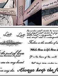 Недорогие -3 pcs Временные татуировки Серия сообщений Экологичные / Новый дизайн Искусство тела Корпус / рука / Грудь / Временные татуировки в стиле деколь / Стикер татуировки