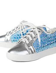 abordables -Femme Chaussures de confort Cuir Nappa Automne Mocassins et Chaussons+D6148 Talon Plat Bout fermé Noir / Bleu royal