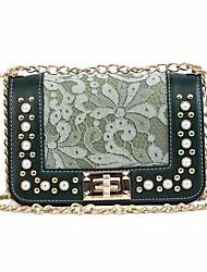 お買い得  -女性用 バッグ PU ショルダーバッグ パール装飾 ブラック / ピンク / Brown