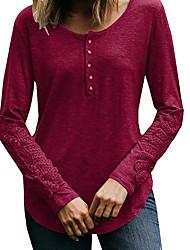 billige -Dame - Ensfarvet Basale T-shirt