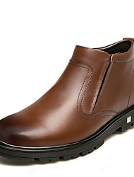 Недорогие -Муж. Зимние сапоги Лакированная кожа Зима На каждый день Ботинки Ботинки Градиент Черный / Коричневый / на открытом воздухе
