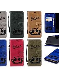 baratos -Capinha Para Samsung Galaxy S9 / S8 Plus Carteira / Porta-Cartão / Flip Capa Proteção Completa Panda Rígida PU Leather para S9 / S9 Plus / S8 Plus
