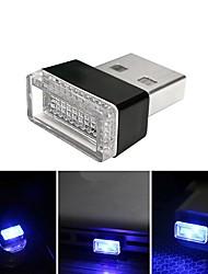 Недорогие -BRELONG® 1шт LED Night Light USB Новый дизайн / Подсветка для авто / С портом USB 5 V