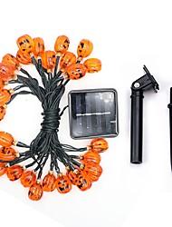 Недорогие -6м Гирлянды 30 светодиоды Тёплый белый / Белый Солнечная энергия 1 комплект