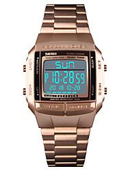 Недорогие -SKMEI Муж. Спортивные часы Наручные часы Цифровой 30 m Защита от влаги Будильник Календарь Нержавеющая сталь Группа Цифровой На каждый день Мода Черный / Серебристый металл / Золотистый -  / Один год