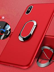 Недорогие -Кейс для Назначение Apple iPhone X / iPhone 8 Кольца-держатели / Матовое Кейс на заднюю панель Однотонный Мягкий ТПУ для iPhone X / iPhone 8 Pluss / iPhone 8