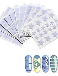 abordables -12 pcs Stickers à ongles creux Créatif Manucure Manucure pédicure Meilleure qualité Elégant Quotidien