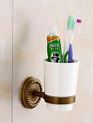 Недорогие -Держатель для зубных щеток Новый дизайн Античный Латунь 1шт Зубная щетка и аксессуары На стену