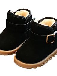 Недорогие -Девочки Обувь Полиуретан Наступила зима Зимние сапоги Ботинки Для прогулок для Дети Черный / Пурпурный / Коричневый