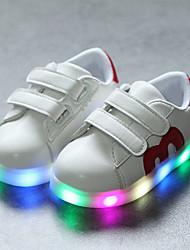 billiga -Pojkar / Flickor Skor PU Vår & Höst Komfort / Lysande skor Sneakers Krok och ögla / LED för Barn / Småbarn Svart / Röd / Blå