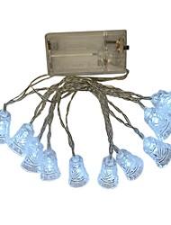 Недорогие -1,5 м Гирлянды 10 светодиоды ДИП светодиоды Тёплый белый / Белый / Разные цвета Декоративная Аккумуляторы AA 1шт