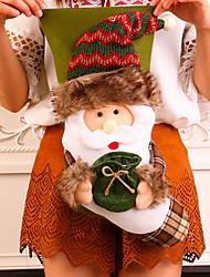 baratos -Meias Finas / Ornamentos Desenho Tecido de Algodão / Plástico Novidades Decoração de Natal
