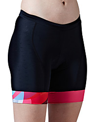 cheap -SANTIC Men's / Women's Cycling Padded Shorts Bike Padded Shorts / Chamois / Bottoms Wearable, Breathable, Soft Solid Colored Blue / Pink