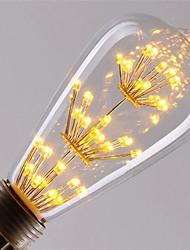 abordables -1pc 3 W 200 lm E26 / E27 Ampoules à Filament LED ST64 47 Perles LED COB Décorative / Étoilé Blanc Chaud / Rouge / Bleu 85-265 V