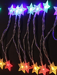 abordables -1.2m Guirlandes Lumineuses 10 LED Plusieurs Couleurs Décorative / Adorable Alimenté par Port USB 1 set