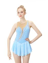 cheap -Figure Skating Dress Women's / Girls' Ice Skating Dress Sky Blue Spandex High Elasticity Professional Skating Wear Fashion Sleeveless Ice Skating / Winter Sports / Figure Skating