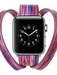 baratos -couro legítimo Pulseiras de Relógio Alça para Apple Watch Series 3 / 2 / 1 Azul / Prata / Vermelho 23cm / 9 polegadas 2.1cm / 0.83 Polegadas