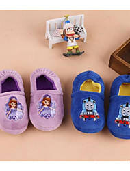 cheap -Boys' / Girls' Shoes Cotton Fall & Winter Comfort Slippers & Flip-Flops Walking Shoes Animal Print for Baby Light Purple / Blue