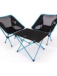 cheap -BEAR SYMBOL Camping Folding Chair / Camping Table Outdoor Lightweight, Anti-Slip, Folding Oxford Cloth, 7075 Aluminium for Fishing / Camping Blue