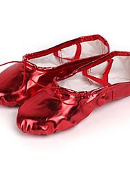 Недорогие -Жен. Обувь для балета Полиуретан Кроссовки На плоской подошве Танцевальная обувь Черный / Красный