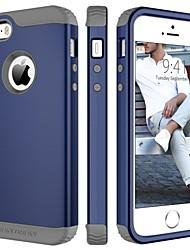 Недорогие -BENTOBEN Кейс для Назначение Apple Кейс для iPhone 5 Защита от удара Чехол Однотонный Твердый ТПУ / ПК для iPhone SE / 5s / iPhone 5