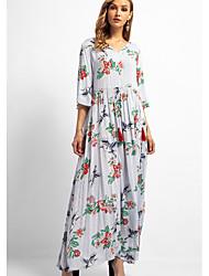 baratos -Mulheres Para Noite / Praia balanço Vestido Decote V Longo