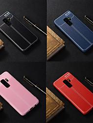 baratos -Capinha Para Samsung Galaxy S9 Plus / S9 Áspero Capa traseira Sólido Macia TPU para S9 / S9 Plus / S8 Plus