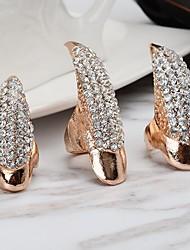 baratos -Mulheres Estilo vintage Anel de dedo de unha Conjunto de anéis - Criativo Vintage, Punk 6 Dourado / Prata Para Natal Halloween / 3pçs