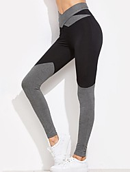 cheap -Women's Bow Yoga Pants - Black, Gray Sports Color Block Leggings Running, Fitness, Workout Activewear Breathable, Soft, Butt Lift High Elasticity Skinny, Slim