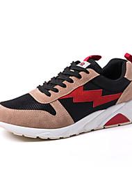 abordables -Homme Chaussures de confort Faux Cuir Automne hiver Décontracté Chaussures d'Athlétisme Marche Couleur Pleine Gris / Marron / Vert