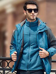 Недорогие -Муж. Куртка для туризма и прогулок на открытом воздухе Осень Зима С защитой от ветра Дожденепроницаемый Анатомический дизайн Полиэфир Куртки 3-в-1 Скрытая молния полной длины